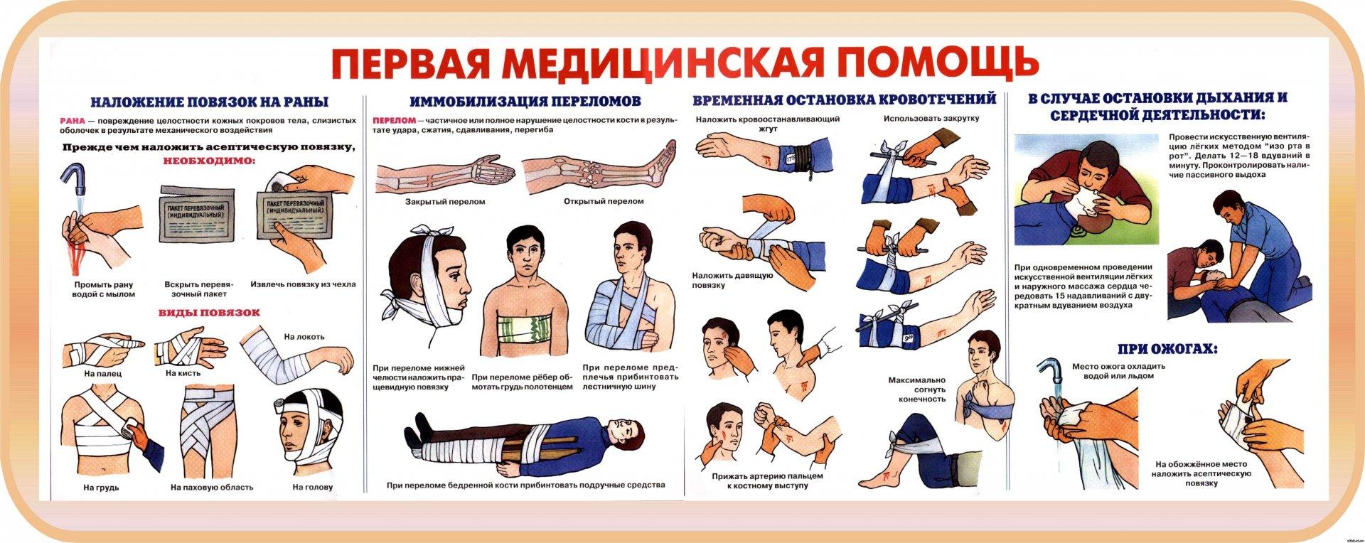 оказание первой медицинской помощи для учителей